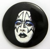Kiss - 'Ace Make-Up' Large Button Badge